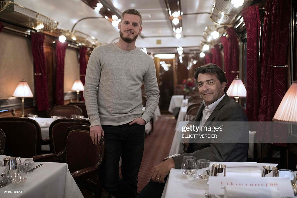 french chef yannick alleno and french pastry chef yann couvreur pose pictures getty images. Black Bedroom Furniture Sets. Home Design Ideas