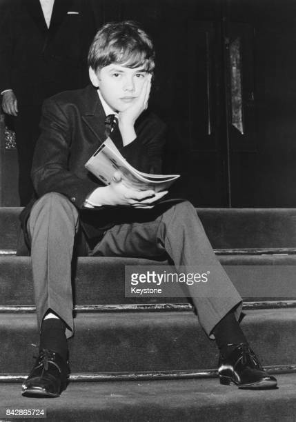 French child actor Didier Haudepin on the steps of the Palais des Festivals during the Cannes Film Festival France 18th May 1965 He is unable to...