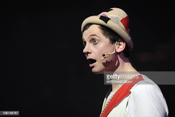 French clown Julien Cottereau performs the 'Prestige' Bouglione circus show at the Cirque d'Hiver in Paris on October 26 2010 AFP PHOTO / BERTRAND...