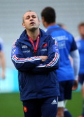 French coach Philippe SaintAndre during the France captain's run at Eden Park on June 7 2013 in Auckland New Zealand