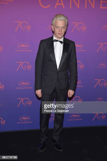 French comedian Alex Lutz attends the Opening Gala Dinner during the 70th annual Cannes Film Festival at Palais des Festivals on May 17 2017 in...