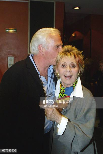 French comedian Jean Valle and French singer Annie Cordy at the Olympia