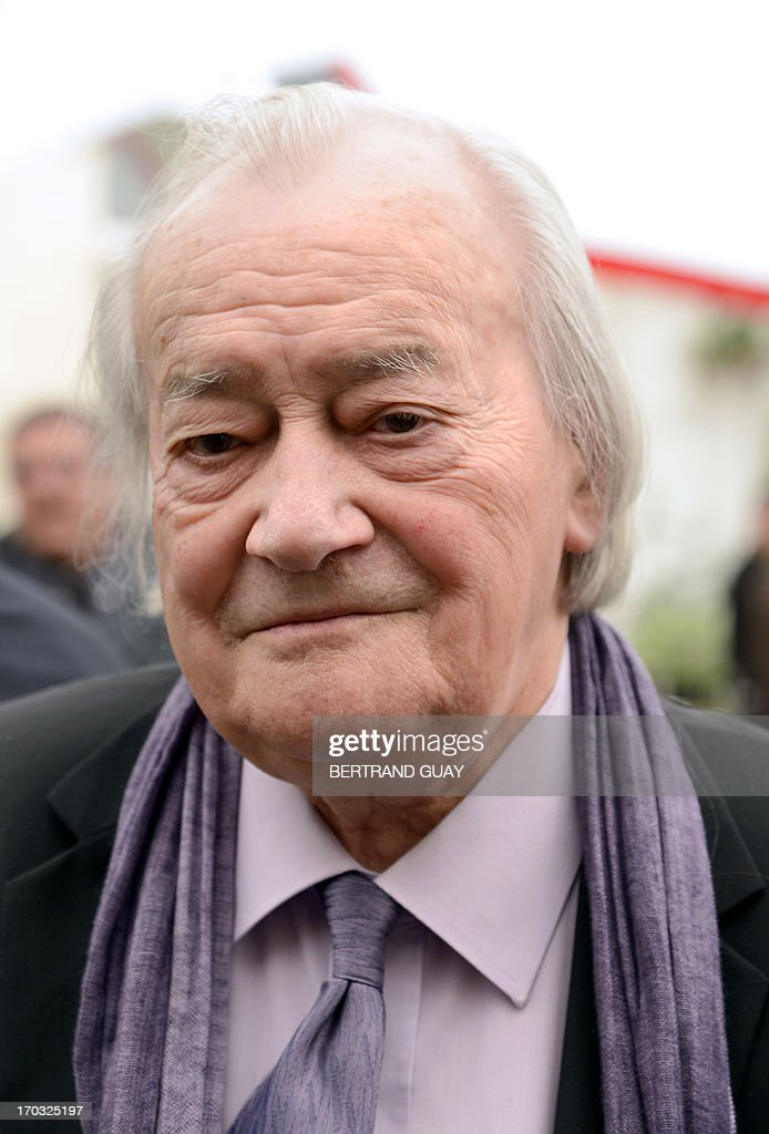 French Communist Party (PCF) senator and former minister Jack Ralite poses on June 11, 2013 at the Socialist Party's (PS) headquarters in Paris, during a ceremony to pay tribute to late former French Prime Minister Pierre Mauroy. Mauroy, who was premier between 1981 and 1984 under France's first Socialist president Francois Mitterrand, died aged 84 on June 7, 2013.