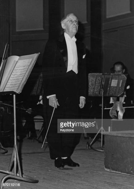 French composer and conductor DésiréÉmile Inghelbrecht receives applause after a concert celebrating the 50th anniversary of the Théâtre des...