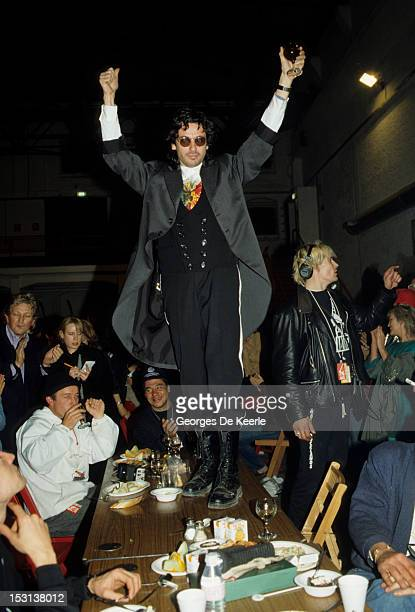 French composer and musician Jean Michel Jarre in London 8th October 1988 Jarre is in the capital for his 'Destination Docklands' concerts