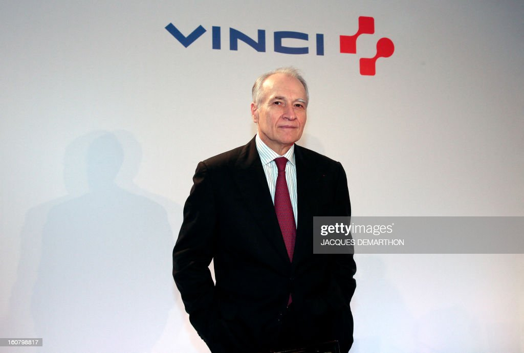 French concession and construction group Vinci chairman Xavier Huillard poses during the group's general meeting in Paris on February 6, 2013. Vinci share price lost 2,53 per cent at 35,69 euros.