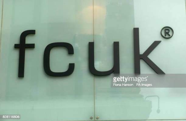 A French Connection store logo on Oxford Street High Street Shops dated Clothing retailer French Connection crushed hopes of salvaging lost profits...