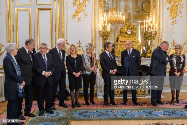 French Constitutional Council members Corinne Luquiens Michel Pinault former prime minister Lionel Jospin Claire BazyMalaurie Nicole Maestracci...