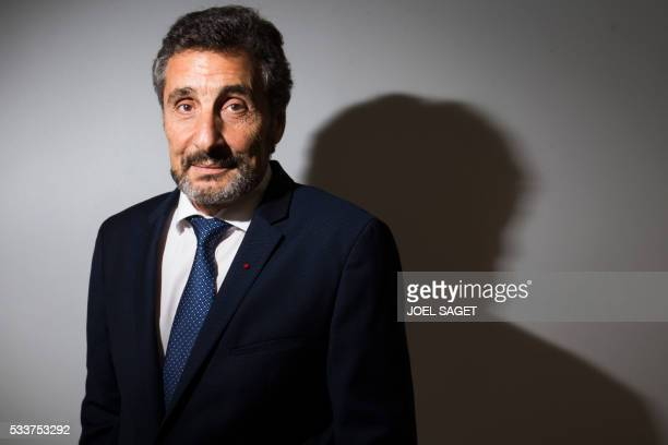 French construction company Groupe Altrad CEO and the president of the Montpellier rugby club Mohed Altrad poses in Paris on May 20 2016 / AFP / JOEL...