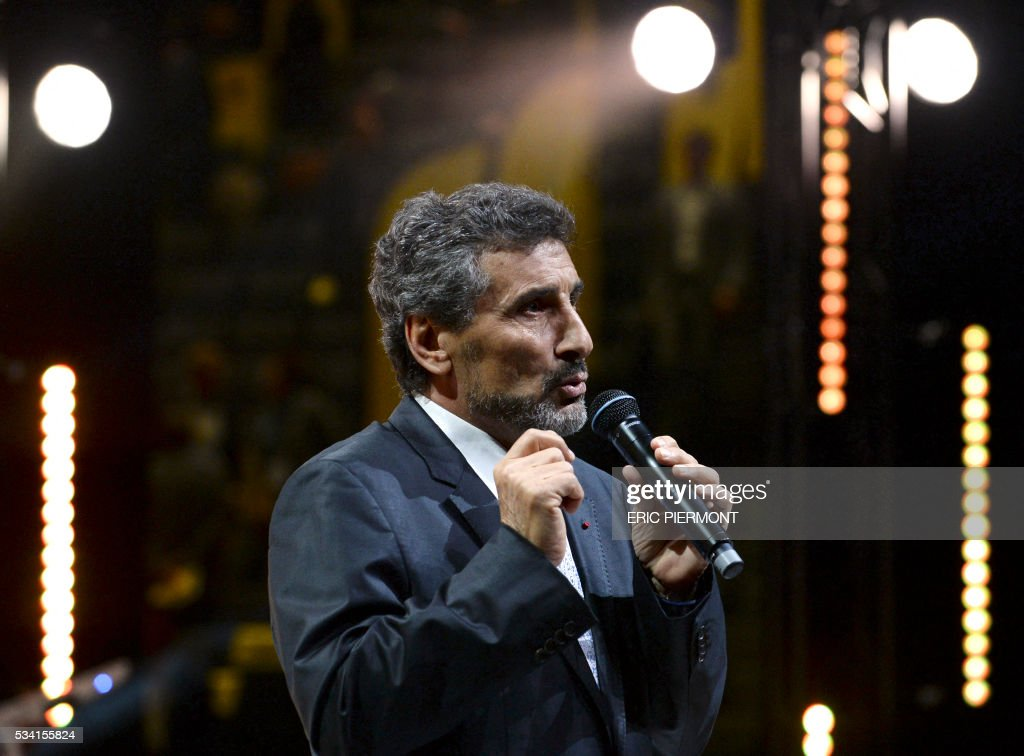 French construction company Groupe Altrad CEO and the president of the Montpellier rugby club, Mohed Altrad addresses France's Public Investment Bank Banque Publique d'Investissement (BPI Bpifrance) event 'Bpifrance Inno Generation' at the AccorHotels Arena in Paris on May 25, 2016. / AFP / ERIC