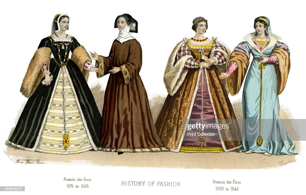 Francis I Illustration showing costume from 15151545 from The History Of Fashion In France by Augustin Challamel Frances Cashel Hoey and John Lillie