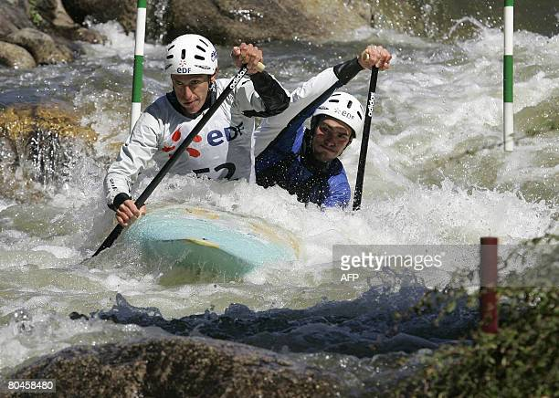 French couple Mathieu Voyemant and Damien Troquenet compete in the Kayak slalom selection for the qualification of the 2008 Olympic Games in Beijing...