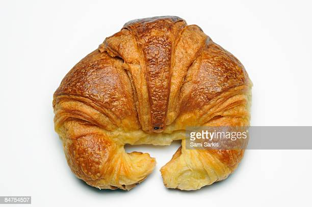 French Croissant on white background, Studio
