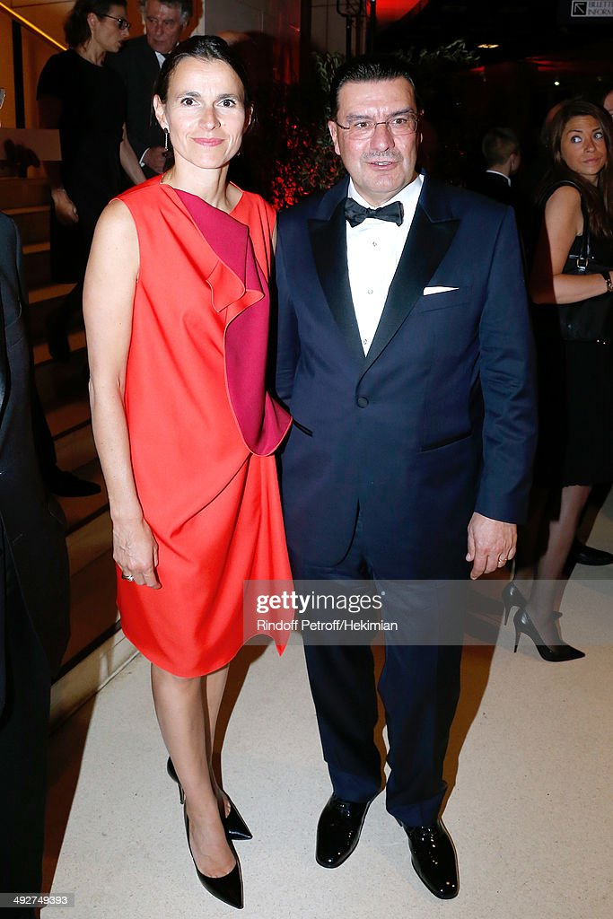 French Culture Minister Aurelie Filippetti and DG of Vacheron Constantin Juan Carlos Torres attend the AROP Charity Gala. Held at Opera Bastille on May 21, 2014 in Paris, France.