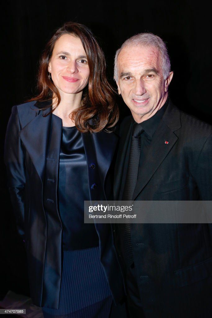 French Culture Minister Aurelie Filippetti and President of the 'Cesar', the French Academy awards Alain Terzian attend the 'Daniel Toscan du Plantier Producer's Price - Cesar Film Awards 2014' at Hotel George V on February 24, 2014 in Paris, France.