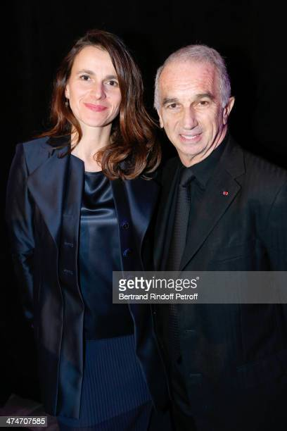 French Culture Minister Aurelie Filippetti and President of the 'Cesar' the French Academy awards Alain Terzian attend the 'Daniel Toscan du Plantier...