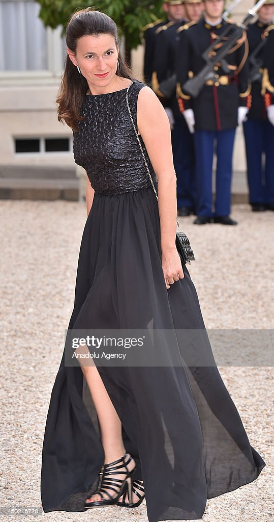French Culture Minister Aurelie Filippetti arrives to the Elysee Palace for the State dinner in honor of the Queen hosted by French President Francois Hollande in Paris, France on 6 June, 2014.