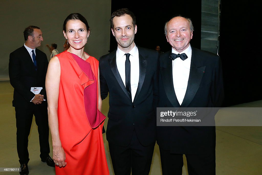 French Culture Minister Aurelie Filippetti, Choreographer of the show and new director of the Opera Benjamin Millepied and Jacques Toubon attend the AROP Charity Gala. Held at Opera Bastille on May 21, 2014 in Paris, France.