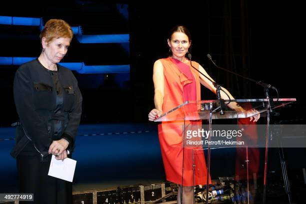 French Culture Minister Aurelie Filippetti pays tribute to Dance Director of the 'Opera de Paris' Brigitte Lefevre the AROP Charity Gala Held at...