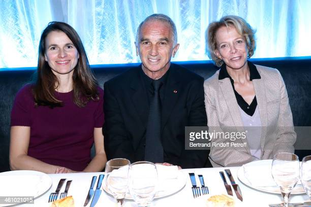 French Culture Minister Aurelie Filippetti President of the 'Cesar' the French Academy Awards Alain Terzian and President of CNC Frederique Bredin...
