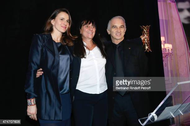 French Culture Minister Aurelie Filippetti winner of the price for the movie 'L'inconnue du lac' and widow of director Maurice Pialat Sylvie Pialat...