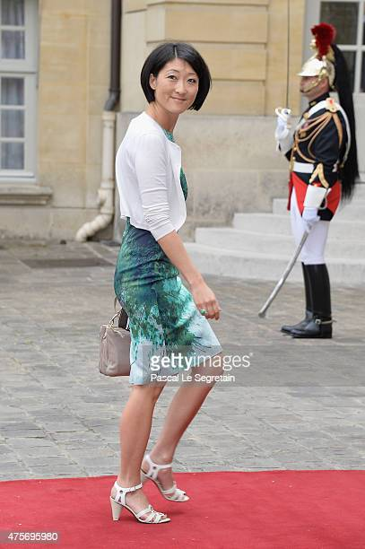 French Culture Minister Fleur Pellerin is seen in the courtyard of the Hotel Matignon on June 3 2015 in Paris France