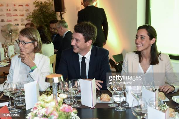 French Culture Minister Francoise Nyssen French Junior Economy Minister Benjamin Griveaux and French Minister attached to the Minister of Ecological...