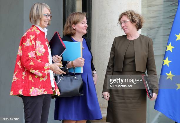 French Culture Minister Francoise Nyssen French Minister attached to the Foreign Affairs Minister Nathalie Loiseau and French Labour Minister Muriel...