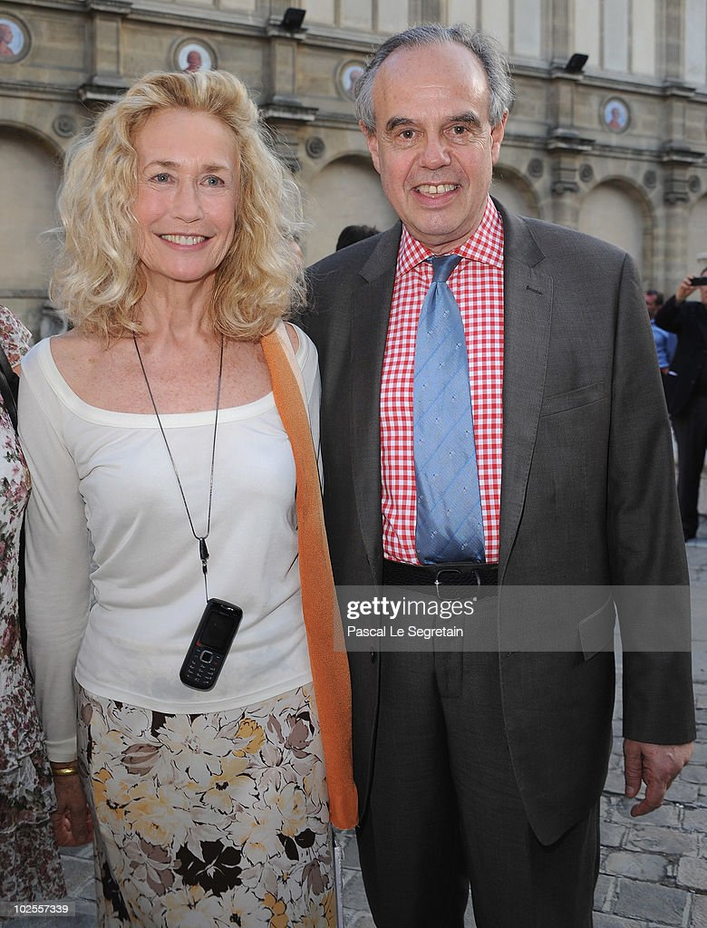 French Culture Minister Frederic Mitterrand and Actress Brigitte Fossey attend the reception for the '23rd Fete Du Cinema' Reception At Ecole...