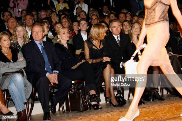 French Culture Minister Renaud Donnedieu de Vabres actress Sharon Stone pianist Helene Mercier Arnault and her husband Bernard Arnault CEO and...