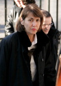 French Culture Minsiter Christine Albanel arrives at the Madeleine Church in Paris to attend French crooner Henri Salvador's funeral ceremony on...