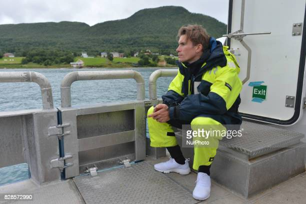 A French cyclist Yoann Offredo riding for the WantyGroupe Gobert Team during a Top Riders media fishing trip on the eve of the opening stage of the...
