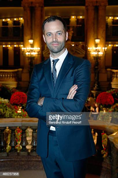French dancer and choregrapher Benjamin Millepied attends Le Chant De La Terre AROP Charity Gala at Opera Garnier on March 4 2015 in Paris France