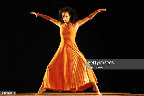 French dancer and choreographer MarieClaude Pietragalla during a performance of L'Etrangere by Georges Bizet with the National Ballet of Marseille at...