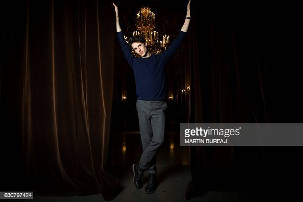 French dancer Germain Louvet poses for photographs on January 2 2017 at the Opera Garnier in Paris Germain Louvet was nominated star dancer of the...