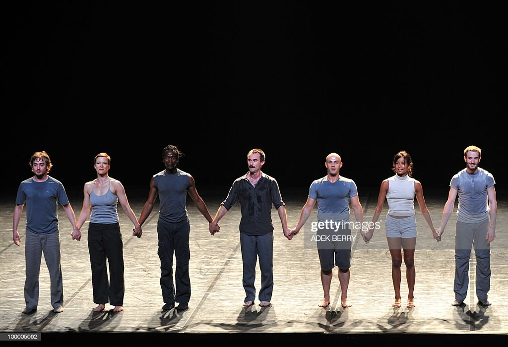 French dancers of Emanuel Gat dance company salute after performed 'Silent Ballet' during Le Printemps Français or French Art Festival in Jakarta on May 19, 2010. Dancer and choreographer Emanuel Gat and his company 'cie Emanuel Gat' presented two absolute highlights of the musical repertory 'Le Sacre du Printemps' of Igor Stravinski and 'Voyage d'hiver' of Franz Schubert during French Art Festival held from April 27 to July 25.