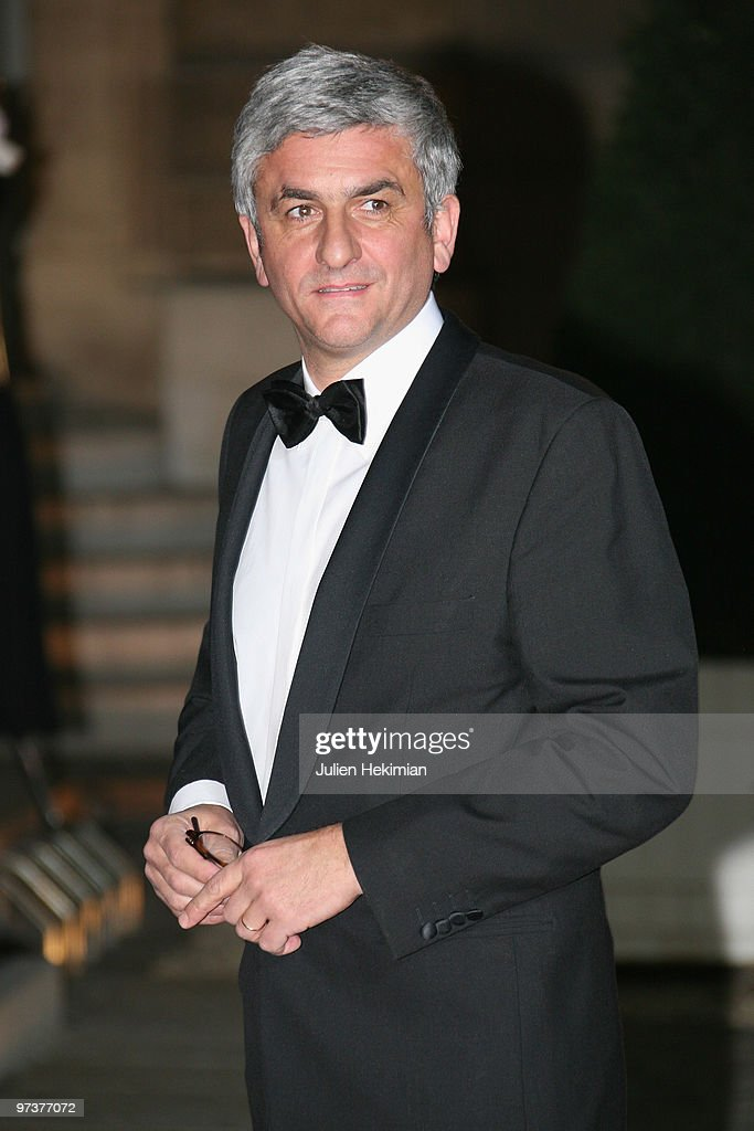 French Defence Minister Herve Morin arrives to attend a state dinner honouring visiting Russian President Dmitry Medvedev at Elysee Palace on March 2, 2010 in Paris, France.