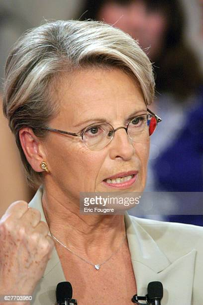 French Defence Minister Michèle AlliotMarie is the special guest on television program 'Vivement Dimanche'