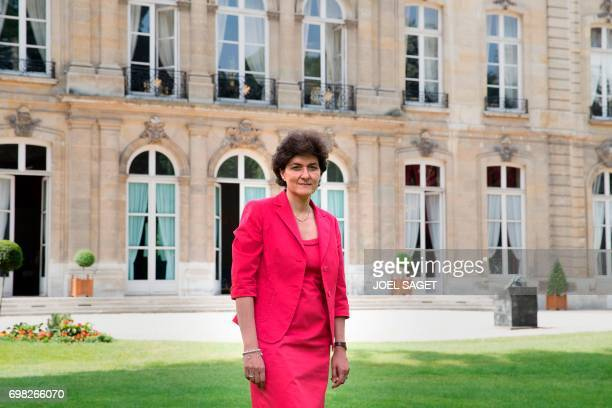 French Defence Minister Sylvie Goulard poses on June 15 2017 outside the Defence ministry in Paris Goulard announced her resignation on June 20 2017...