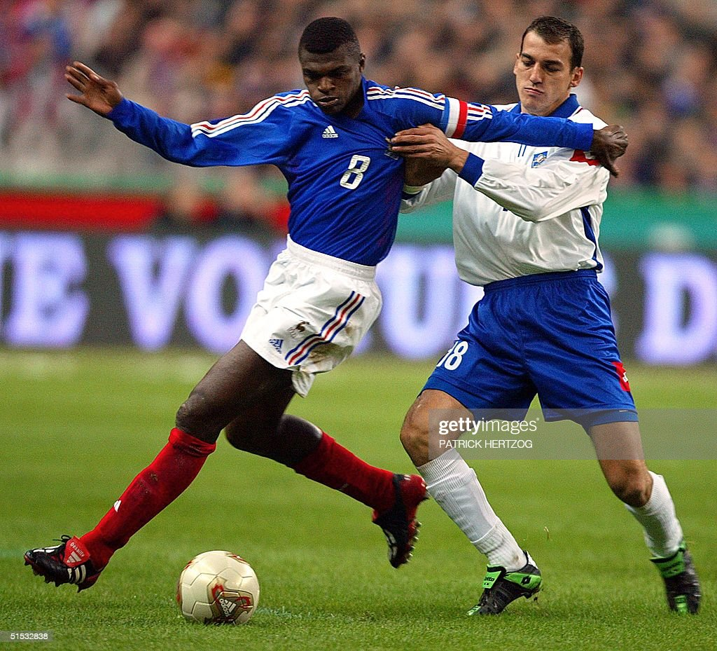 French defender and captain Marcel Desailly L an