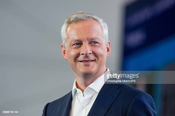 French Deputy and candidate for the Primary Election of the Right wing Les Republicains to the 2017 Presidential Election Bruno Le Maire attends a...