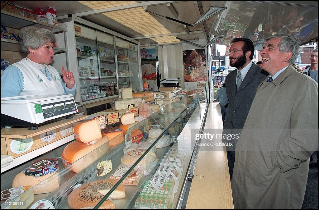 French deputy and candidate of 'Mouvement des citoyens' candidate Jean Pierre Chevenement visiting North department in France on September 25, 2001.