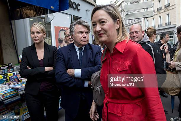 French Deputy and President of the Political Party of the Extreme Right FN in PACA region Marion MarechalLe Pen the French Deputy and general...