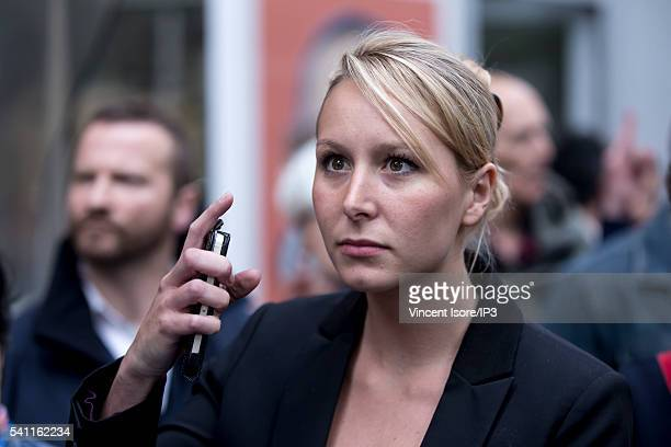 French Deputy and President of the Political Party of the Extreme Right FN in PACA region Marion MarechalLe Pen attends the gathering of the 'Manif...