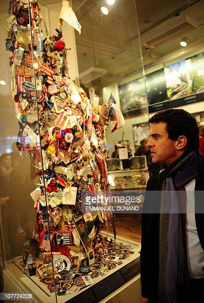 French Deputy Manuel Valls visits the 9/11 Memorial and Museum in New York December 13 2010 AFP PHOTO/Emmanuel Dunand