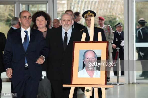 French Deputy Minister in charge of Veteran Affairs Kader Arif arrives on March 16 2013 to award in the southwestern French city of Bayonne a...