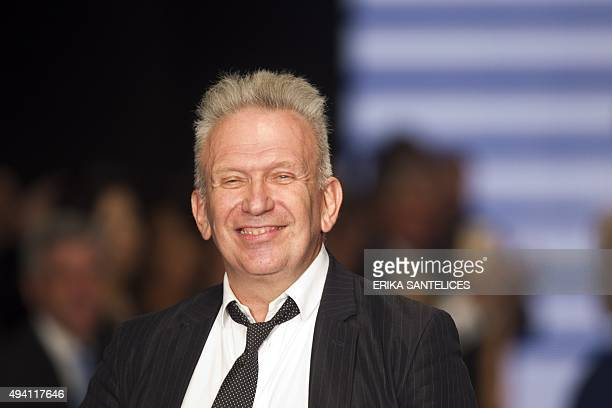 French designer Jean Paul Gaultier presents his Fall/Winter 2015/2016 collection during Fashion Week in Santo Domingo on October 24 2015 AFP PHOTO /...