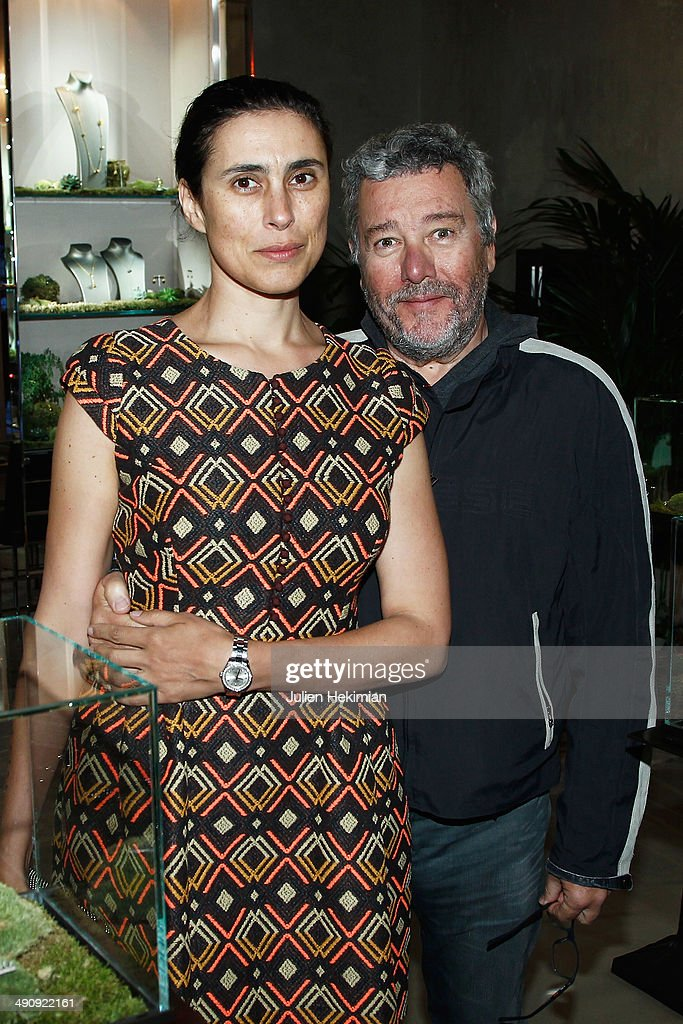 French designer <a gi-track='captionPersonalityLinkClicked' href=/galleries/search?phrase=Philippe+Starck&family=editorial&specificpeople=3961802 ng-click='$event.stopPropagation()'>Philippe Starck</a> and his wife Yasmine attend the 'Fantasia N 1 ' Bal at Maison Baccarat on May 15, 2014 in Paris, France.