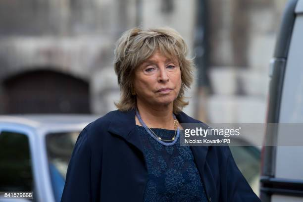 French Direcor Daniele Thompson attends Mireille Darc's Funeral at Eglise Saint Sulpice on September 1 2017 in Paris France French actress died aged...