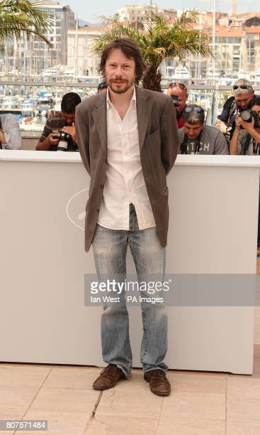 French director and actor Mathieu Amalric during the photocall for the film Tournee at the Palais de Festival in Cannes